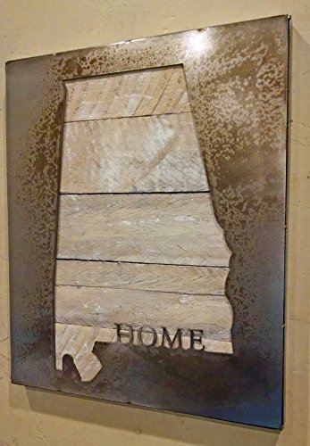 Custom State Map with ''HOME'' - State Love - Metal Art - Reclaimed Wood and Aged Steel by LegendaryFineArt (Image #5)