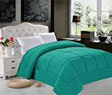 Alternative Comforter - Super Soft Goose Down 1pc SOLID Alternative Comforter - All Sizes and Many Colors Available , QUEEN, Turqouise