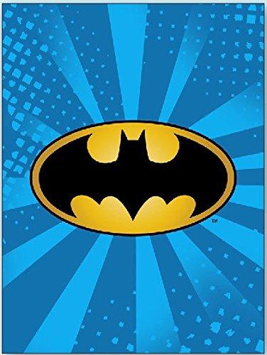 (JPI DC Comics Batman Emblem Super Soft Plush Luxury Twin Size Blanket- Starburst)