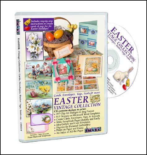 UPC 825041000242, ScrapSMART - Easter Vintage Collection: Cards, Envelopes, Tags, Seals, & More - (CDE24)