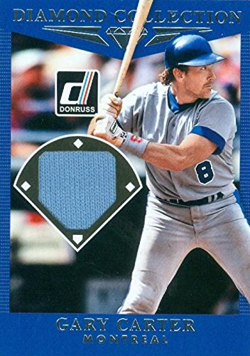 Gary Carter baseball card player worn jersey patch (Montreal Expos) 2017 Panini Donruss Diamond Collection #DCGA