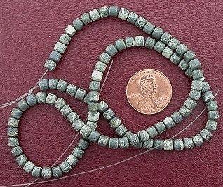 (4mm Drum Gemtone Silver Leaf Agate Beads)