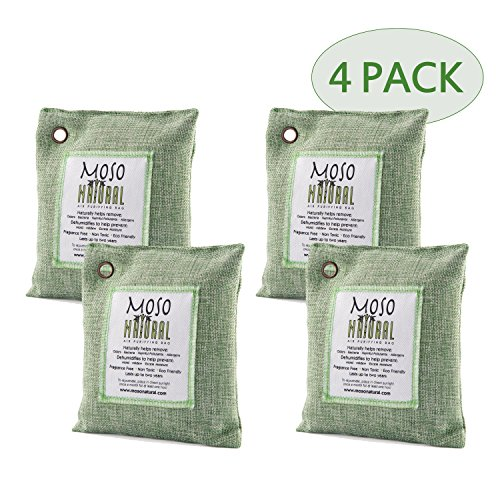 Bio Bag Refills - Moso Natural 200gm Air Purifying Bag, Green, 4-Pack