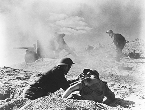 World War Ii North Africa Na British Soldier Aids A Comrade While A Fellow Soldier Mans A 6 Pounder Anti-Tank Gun During The British Advance In Tripolitania Region Of North Africa December 1942 Poster