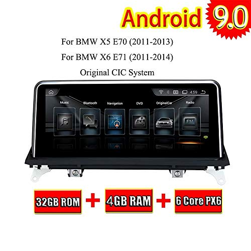 (10.25Inch Android 9.0 Auto Radio Stereo for BMW X5 E70 2011 2012 2013 X6 E71 2011 2012 2013 Auo GPS Navi 3G WiFi Mirror Link RDS FM AM No DVD CD)