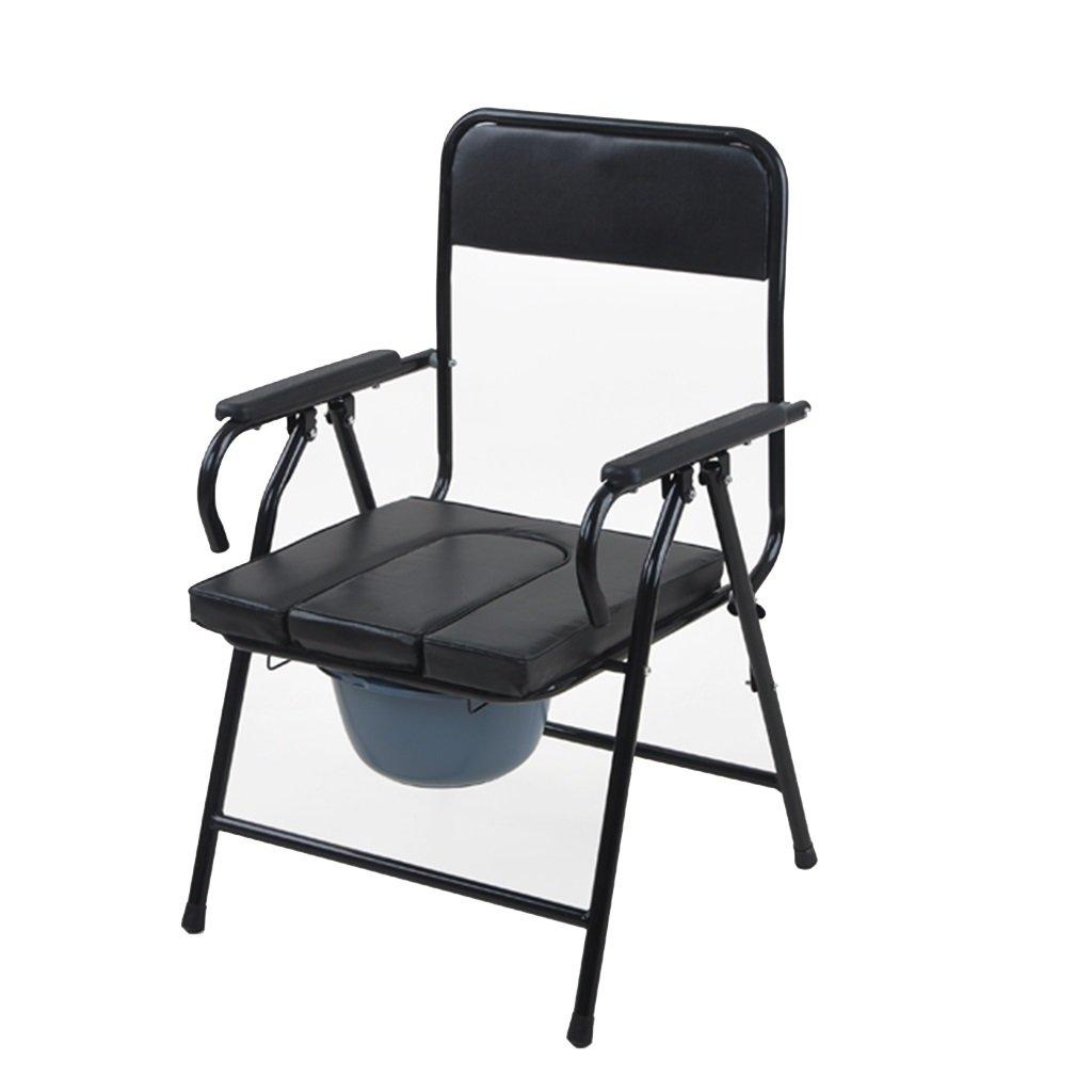 厚いスチール製便座椅子折りたたみ式トイレ可動式トイレ高齢者用便座椅子 B07C2SZJZX