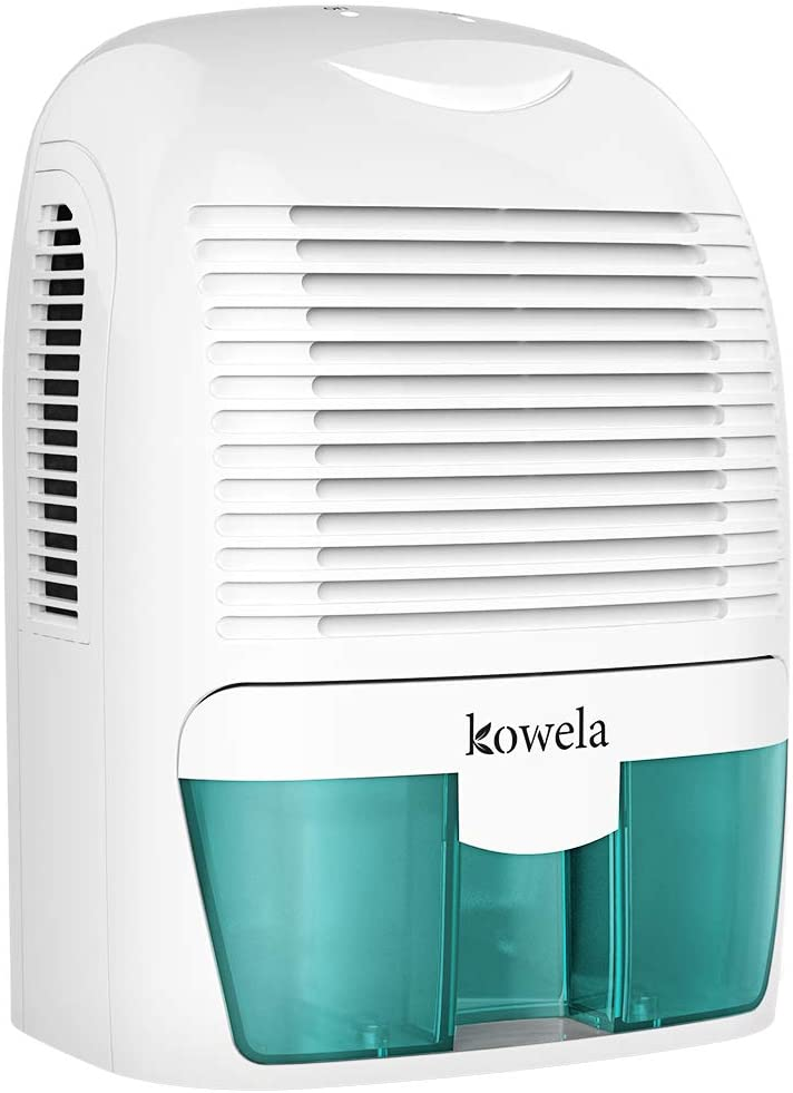 Kowela Electric Dehumidifier for Home 2200 Cubic Feet 52 oz Capacity Compact Quiet Portable Small Dehumidifiers for Home Bathroom Kitchen Bedroom Basement Caravan Office Garage