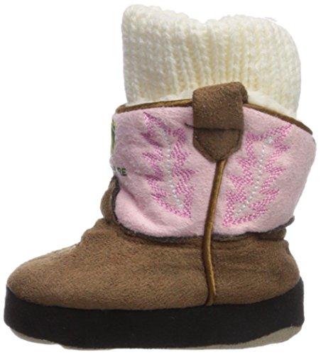 John Deere Girls' Infant Slippers, Pink, 0/6M