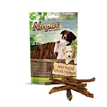 Norpur Beef Pizzle Sticks Dog Treats (12-Pack) All-Natural, Healthy Snacks | Puppies, Adults, Seniors | Chewy, Oven-Baked, Slow-Roasted Flavor | Made in Canada (12-Count)