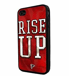 American Football NFL ATLANTA FALCONS Logo, Cool iPhone 4 / 4s Smartphone iphone Case Cover Collector iphone TPU Rubber Case Black