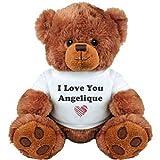 I Love You Angelique Romantic Valentines Gift: Medium Plush Teddy Bear