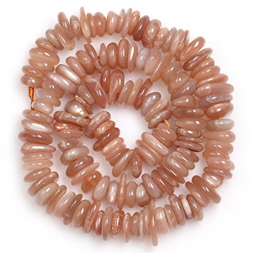 - Sun Stone Beads for Jewelry Making Natural Gemstone Semi Precious 3-5x10-12mm Freeform Potato Shape 15