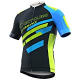 #5: Men's Short Sleeve Cycling Jersey Full Zip Moisture Wicking, Breathable Running Tops - Bike Biking Shirt from 4ucycling