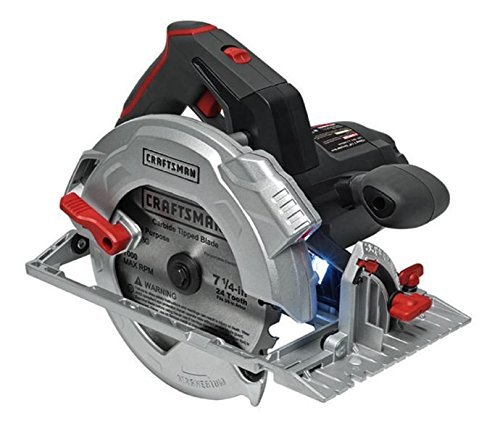 Price comparison product image CRAFTSMAN 15 AMP Corded 7-1 / 4 inch CIRCULAR SAW with LaserTrac,  VibraShield and LED worklight 9-46130