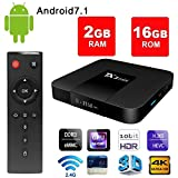 Android 7.1 Smart TV Box - VGROUND TX3 Mini Android TV Box with S905W Quad Core 64 Bit 3D 4K H.265 Decoding 2.4GHz WiFi-2G+16G