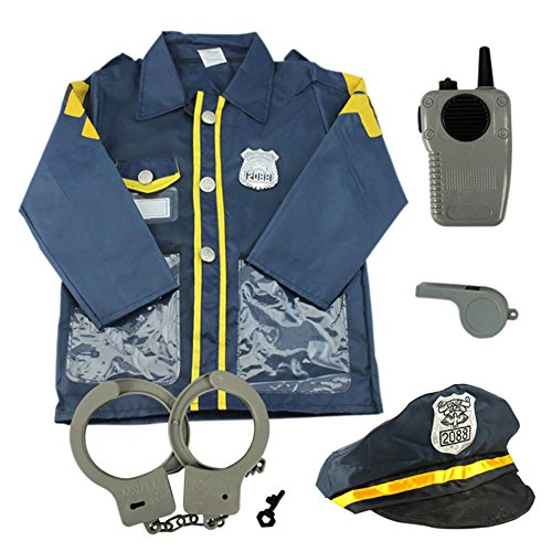 TopTie Child Police Officer Costumes, Cop Role Play Costumes NAVYBLUE-S (Toddler Police Uniform)