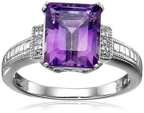 Amethyst And Diamond Ring - 8