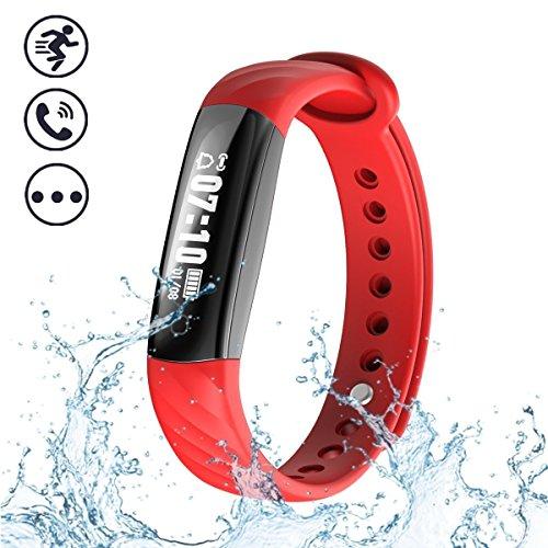 (BISOZER Fitness Tracker Waterproof, Women Sport Tracker Slim Fitness Watch Band Smart Bracelet, Wristband Watch with Health Sleep Activity Tracker Pedometer for Smartphone)