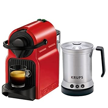 Buy Nespresso Inissia Red With Milk Frother Coffee Capsule Machine