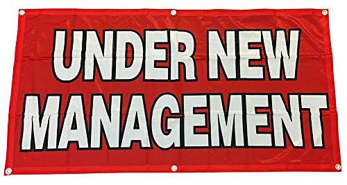 - 4Less 2x4 Ft Under New Management Banner Vinyl Alt Sign - Fabric rb