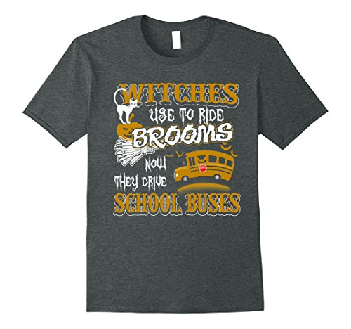 [Mens Witches Drive School Buses Driver Funny Halloween T Shirt 3XL Dark Heather] (Magic School Bus Costume)