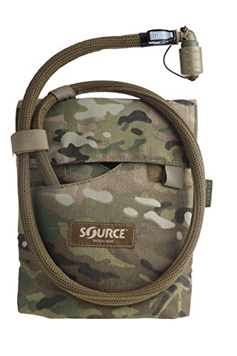 Source Tactical Kangaroo 1-Liter Collapsible Canteen Hydration System System with Storm Push-Pull Drinking Valve with Pouch (Liter Hydration System)