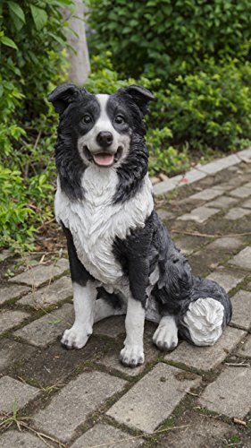Border Collie Statue - Hi- Line Gift 87689 Decorative Border Collie Sitting Dog Statue
