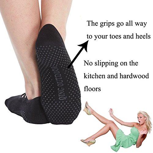 Womens-Socks-Non-Skid-Low-Cut-Yoga-Socks-Barre-Socks-for-StudioHospitalYogaPilates-socks-with-straps-1-pair