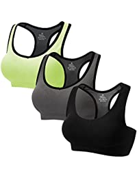 Racerback Sports Bras Activewear Medium High Impact for Fitness Workout Yoga Gym 3 Packs