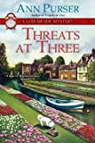 Threats at Three by Ann Purser front cover