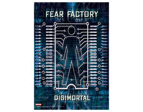 Poster Fear Factory - NNG Fear Factory - Digimortal - Textile Poster Flag