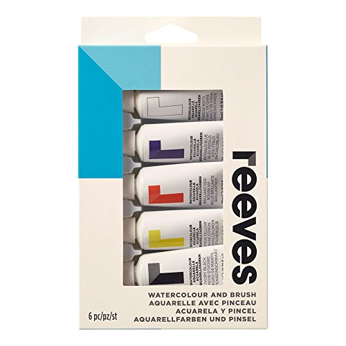 (Reeves Water-Colour Paint, Brush and Tube Set - 6-Piece)
