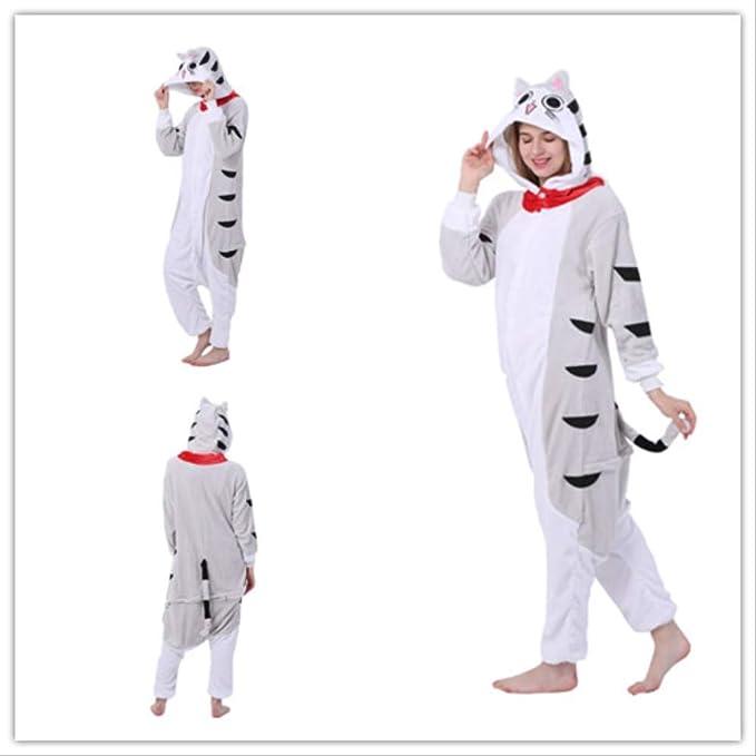 Pijama para Adultos Unisex de Franela con Capucha, diseño de Gato ...