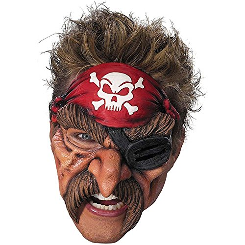 Pirate Chinless Vinyl Mask (Pirate Adult Vinyl Chinless Mask)