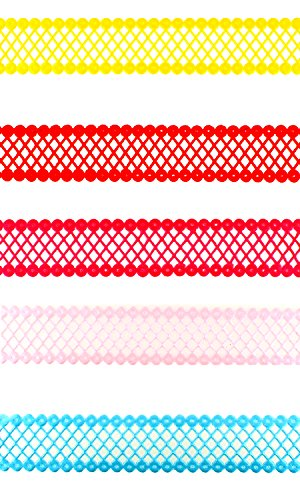 Trimweaver TW-78-LASER-CUT-DIAMOND-TRIM-VAR2-25YD 30 yd. Laser Cut Diamond Pattern Trim Ribbon (Pack of 2), 7/8