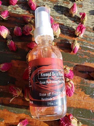 (Rose) Hydrating Face Mist Toner/Moisturizer/Anti-Aging/Acne control/Burn/Scars – Organic – Natural – Alcohol Free – -