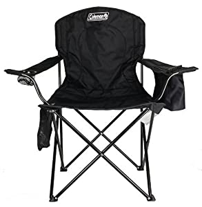 Coleman Cooler Quad Portable Camping Chair, Black