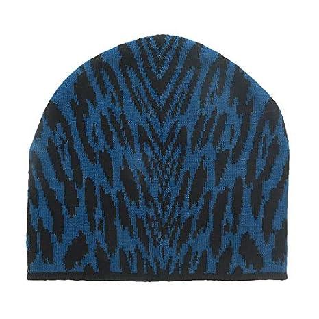 2270f52e6d8c8 Roberto Cavalli ESZ026 D0174 Black Aquamarine Jaguar Beanie Hat for mens at  Amazon Men s Clothing store