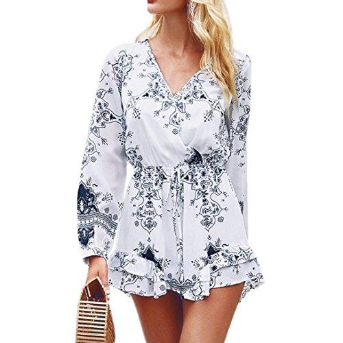 Spbamboo Women Halter Neck Boho Print Long Sleeve Mini Beachwear Dress Sundress by Spbamboo