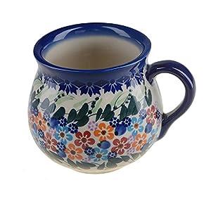 127-U-006 BCV Polish Pottery Hand Painted Ceramic Napkin Rings set of 4