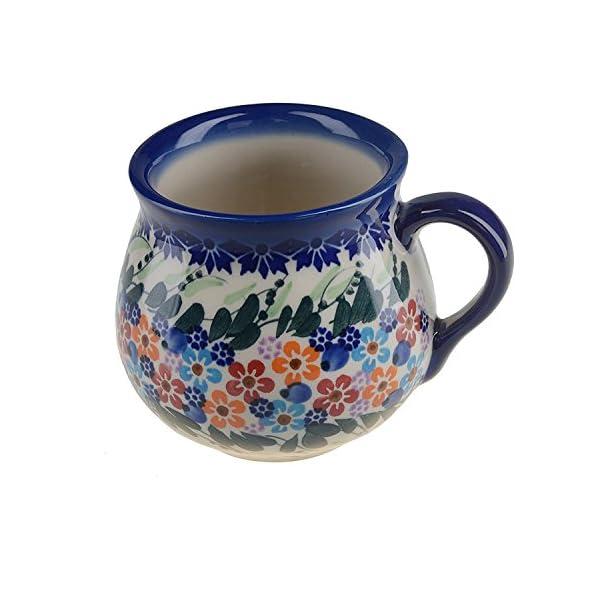 BCV Classic Boleslawiec, Polish Pottery Hand Painted Ceramic Mug, Barrel (300, U-008)