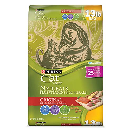 Purina Cat Chow Natural Dry Cat Food; Naturals Original - 13 lb. Bag]()