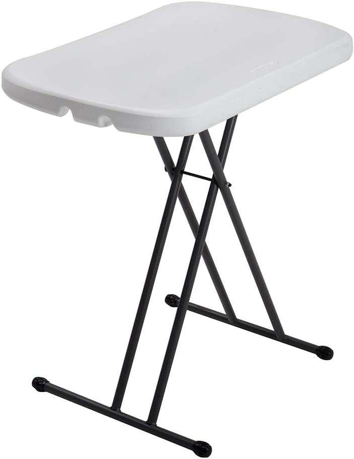 Lifetime 80251 Mesa Plegable Multiusos Ultrarresistente, UV100, Blanco, 66 x 46 x 61 cm