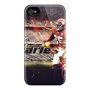 Iphone 4/4s AoA1626CFfg Allow Personal Design Lifelike Kansas City Chiefs Pattern Protective Cell-phone Hard Covers -JohnPrimeauMaurice