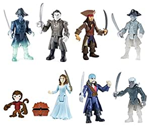 Pirates of the Caribbean Salazar's Revenge Two Figure Pack Lot of 4 Sets