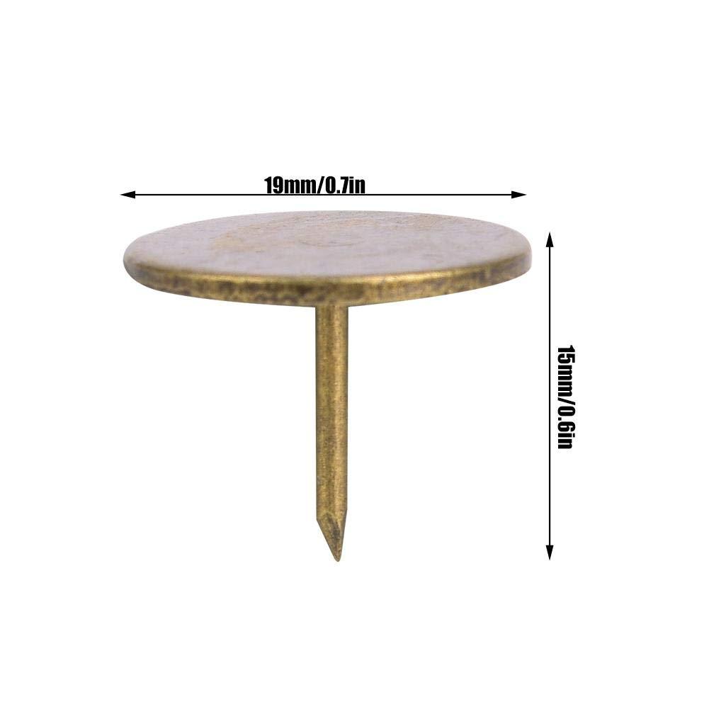 Sheens U/ñas de tapicer/ía de 100 Piezas Clavo de tapicer/ía de Bronce Cian de Cabeza Plana Grande Tachuelas de tapicer/ía Antiguas Tachuelas de Metal Muebles Decorativos 16 x 20mm