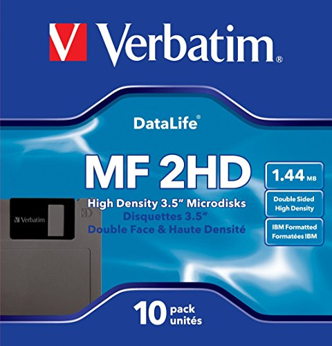 Verbatim 3.5In HD 1.44MB Pre-Fmt IBM 10Pk (Discontinued by Manufacturer) -