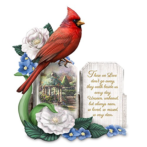 The Hamilton Collection Thomas Kinkade Art Sculpted Cardinal Remembrance Figurine