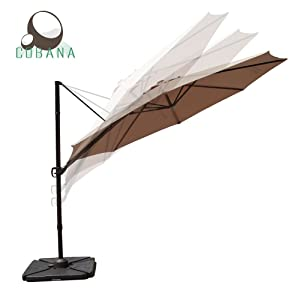 COBANA 10 Feet Octagon Cantilever Patio Umbrella