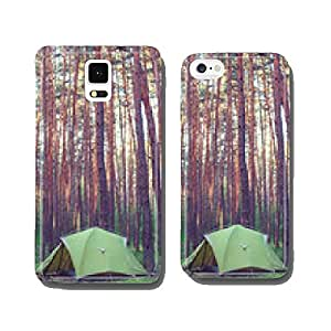Tent in the forest cell phone cover case Samsung S6